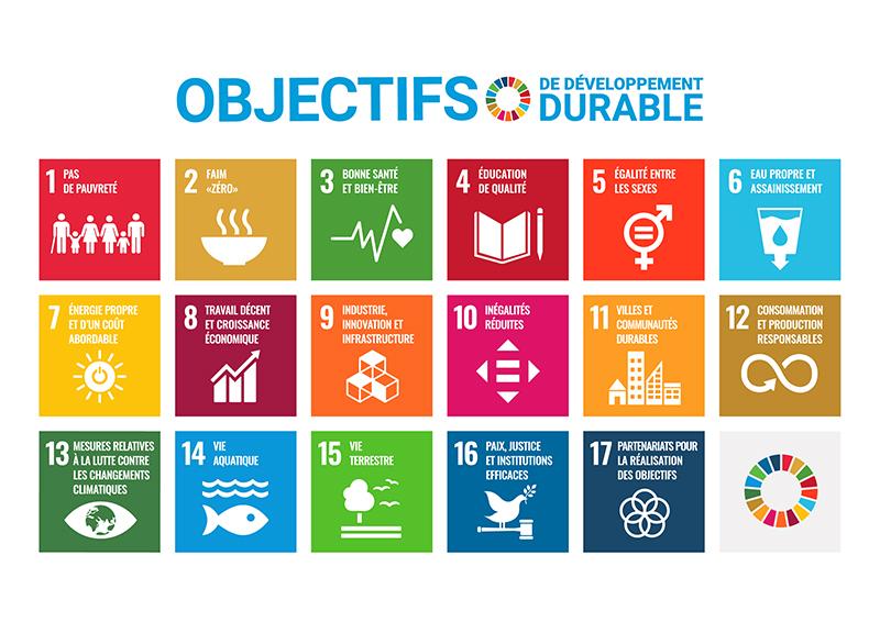 17 Objectifs de développement durable - ONU