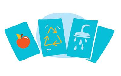 Illustration de 4 cartes à jouer