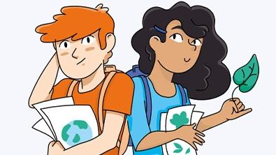 illustration d'un garçon et d'une fille