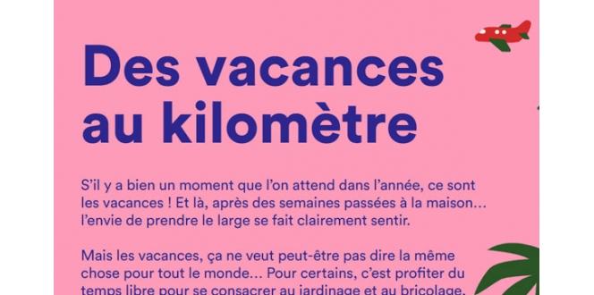 Infographie - Des vacances au kilomètre